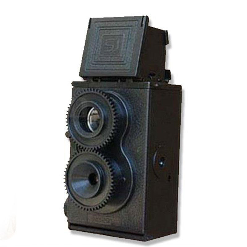 Fashion Black DIY Twin Lens Reflex TLR 35mm Lomo Film Camera Kit Classic Play Hobby Photo Toy Gift