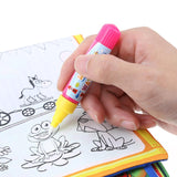 Magic Water Drawing Book Coloring Cloth Animals Painting Board Children Early Educational Drawing Toy Kids Birthday Xmas Gift