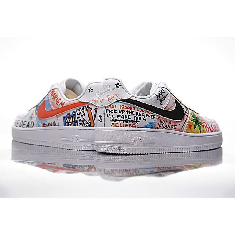 NIKE AIR FORCE 1 LOW Men and Women Skateboarding Shoes ,White,Abrasion Resistant Non slip Waterproof Packaged 923088 100