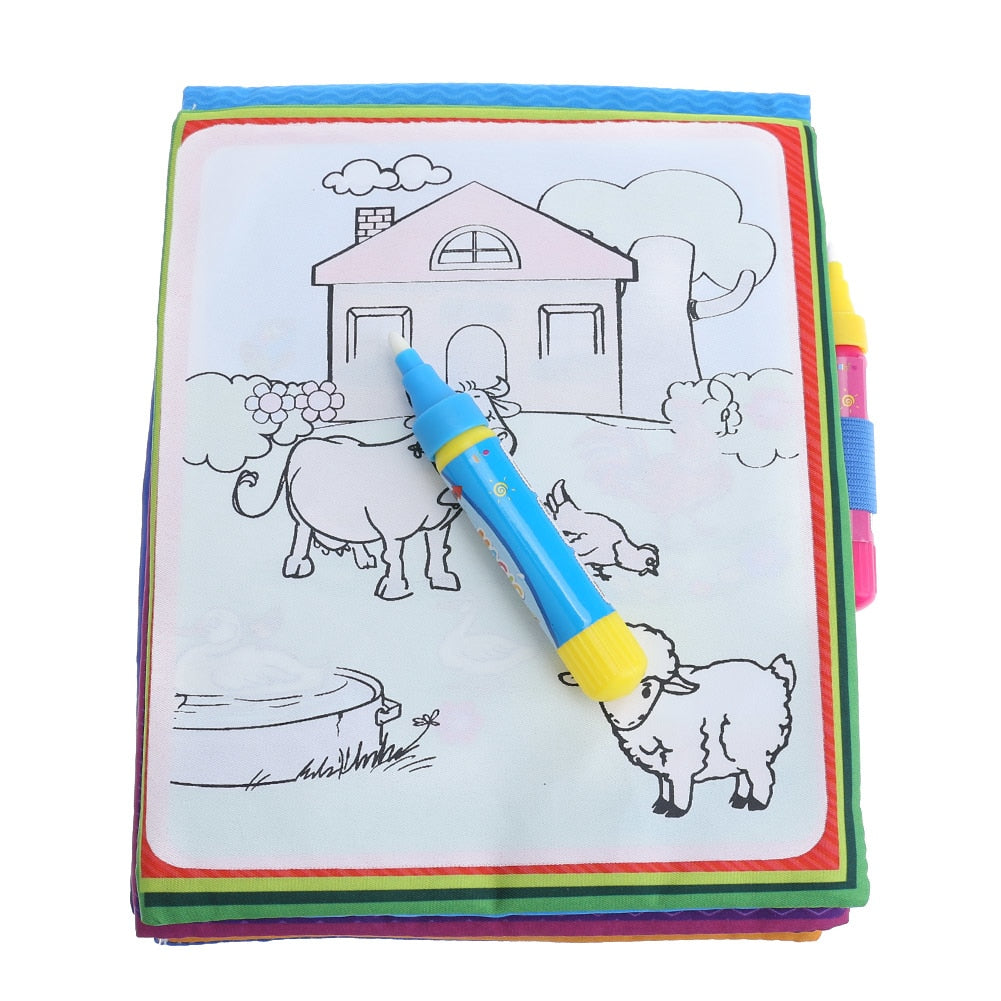 Kids Magic Water Drawing Book with Magic Pen Coloring Book Doodle Painting  Board For Children learning Educational Drawing Toys