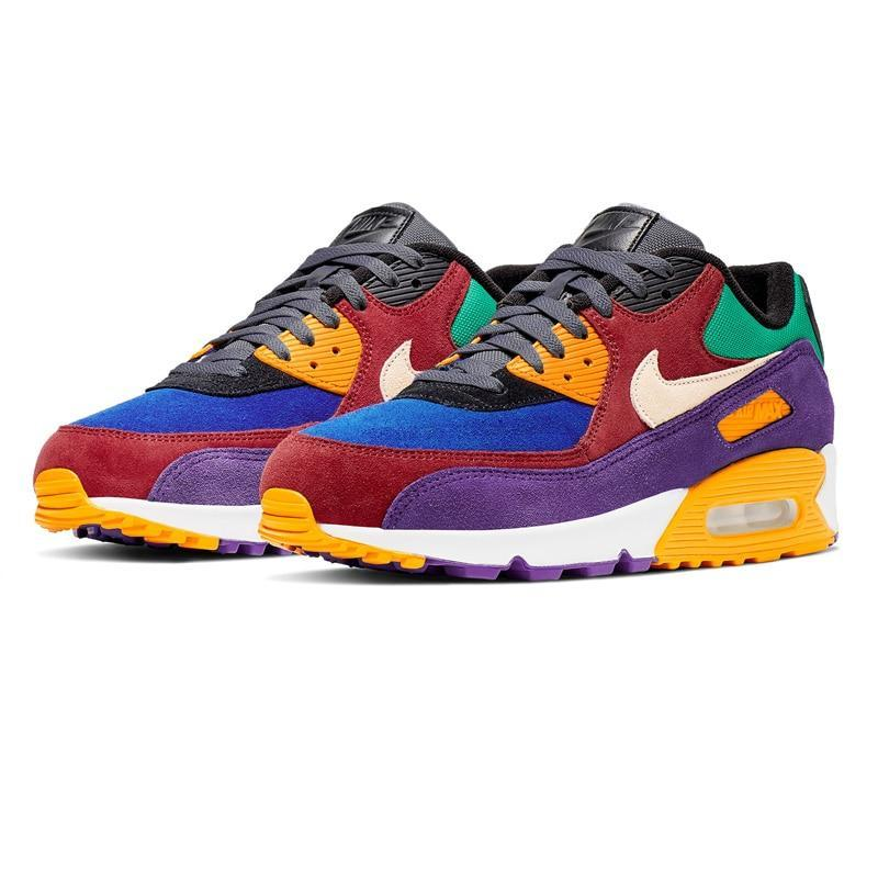 NIKE AIR MAX 90 QS Running Shoes Men Colorful Outdoor ...