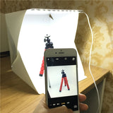 New Portable Folding Lightbox Photography Studio Softbox LED Light Soft Box DSLR Camera Photo Background for iPhone Xiaomi
