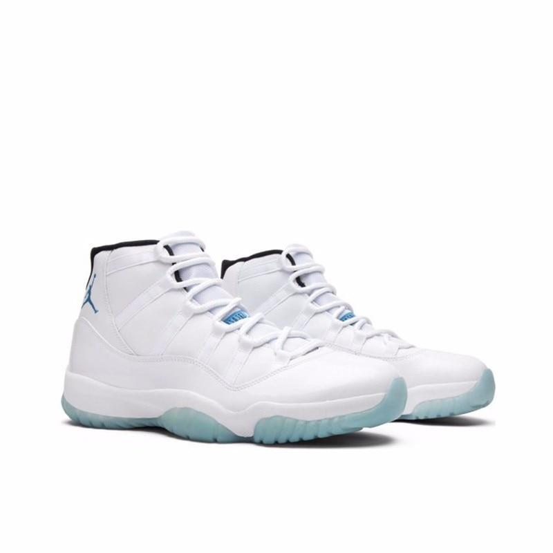 New Nike Air Jordan 11 Legend Blue AJ11 New Arrival Men Basketball Shoes Original Authentic Outdoor Sports Sneakers #378037-117