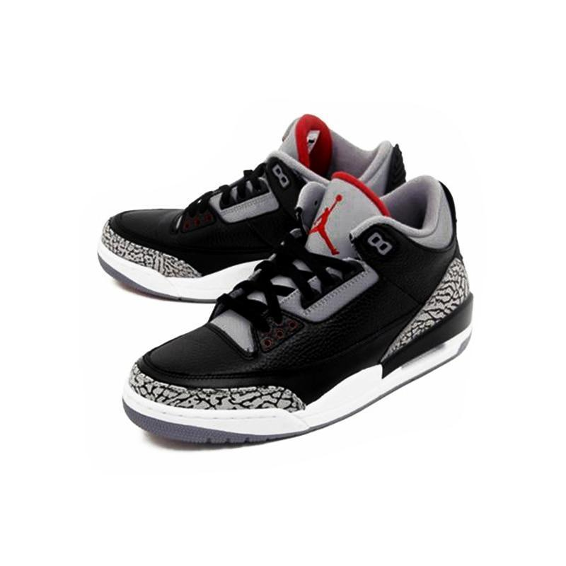 los angeles 37e44 3f671 Nike Air Jordan 3 Black Cement AJ3 Men 's Basketball Shoes Sport Outdoor  Sneakers Athletic Designer Footwear 2018 New 854262-001
