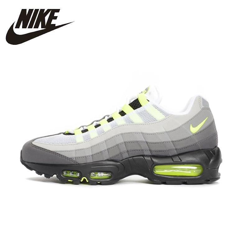 4fd81132185b Nike Original Air Max 95 Og Mens Running Shoes Mesh Breathable Stability  Support Sports Sneakers 554970