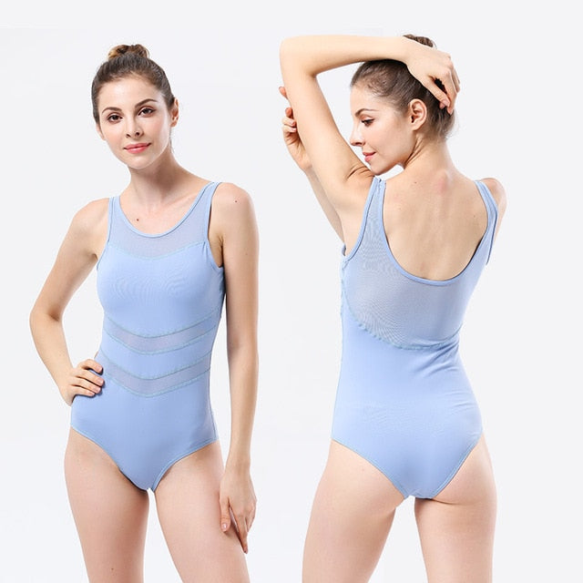 Orange Summer Women Yoga Sets One Piece Jumpsuits Ballet Active Wear Clothes Mesh Patchwork Half Sleeve Mujer Fitness Pilates - Cadeau Me