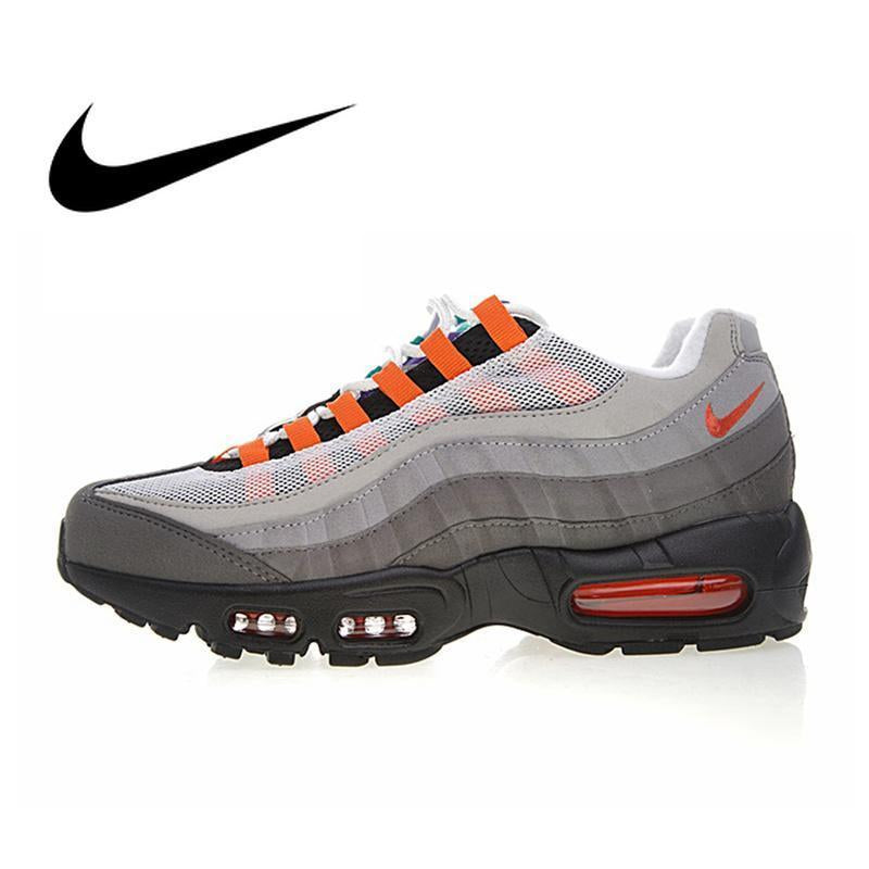 huge discount e2f35 88108 Original Authentic NIKE AIR MAX 95 OG QS Men's Running Shoes Sport Outdoor  Sneakers Athletic Designer 2019 New Arrival 810374