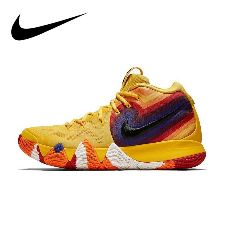 brand new a55d2 207dc Original Authentic NIKE Kyrie 4 Original Mens Basketball Shoes Sneakers  Outdoor Sport Designer Brand Jogging Walking 943807-700