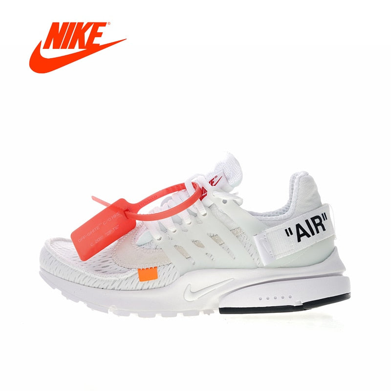 Original New Arrival Authentic Off White x Nike Air Presto 2.0 Women's Breathable Running Shoes Sneakers Good Quality AA3830-100