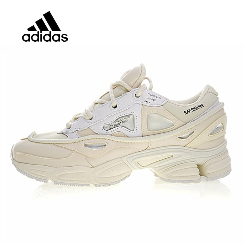 Original New Arrival Official Adidas Ozweego 2 x Raf Simons Men's & Women's Running Shoes Sport Sneakers Bunny Cream S81161