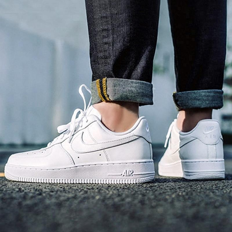 Original authentic Nike AIR FORCE 1 AF1 men's breathable skate shoes outdoor fashion sports shoes sports designer shoes 315122