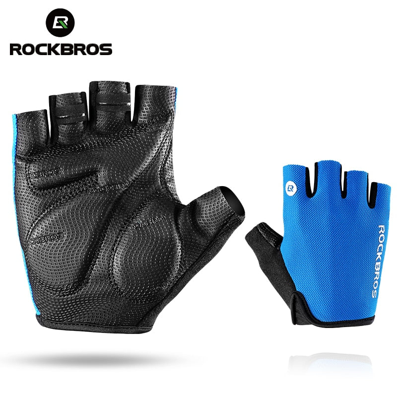 ROCKBROS Cycling Gloves Half Finger Bike Gloves Shockproof Breathable MTB Mountain Bicycle Gloves Men Sports Cycling Clothings - Cadeau Me