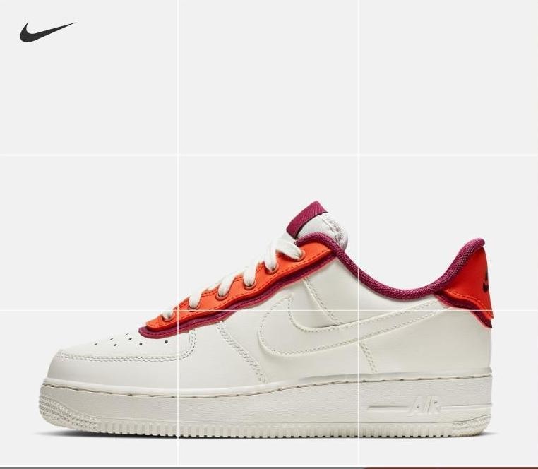 Nike Air Force 1 High 804609 105 Gym RedBlack White Resistant Breathable Sneakers