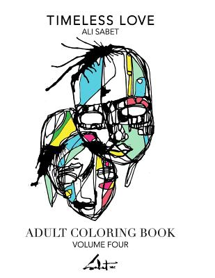 Adult Coloring Book by Ali Sabet, Timeless Love
