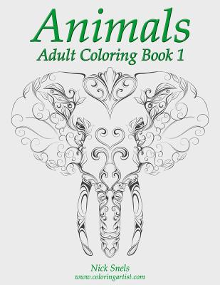 Animals Adult Coloring, Book 1