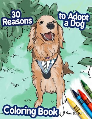 30 Reasons to Adopt a Dog Coloring Book