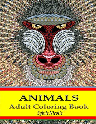 Adult Coloring Book: Animals Stress Relieving Designs