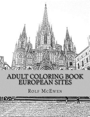 Adult Coloring Book: European Sites