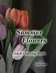 Summer Flowers Adult Coloring Book