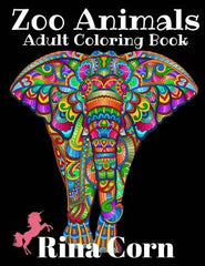 Zoo Animals Adult Coloring Book: Majestic Animal Illustrations for Creative Fun