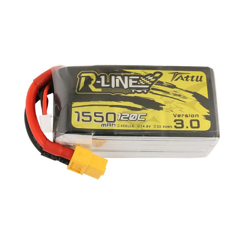 Tattu R-Line V3.0 4S 1550mAh 14.8V 120C Lipo Battery Pack