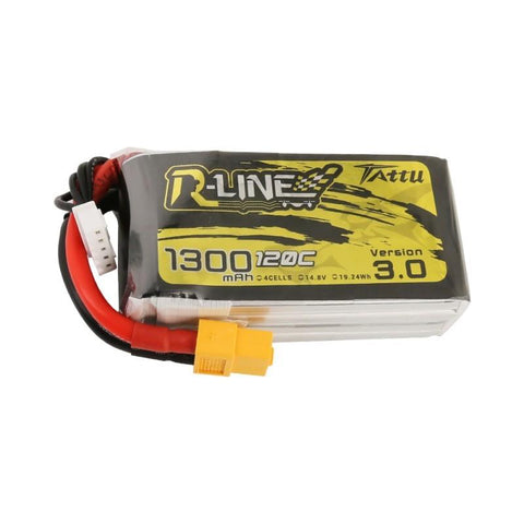 Tattu R-Line V3.0 1300mAh 14.8V 120C Lipo Battery
