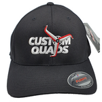 Custom Quads 3D Flexfit Cap Black - Drone Racer