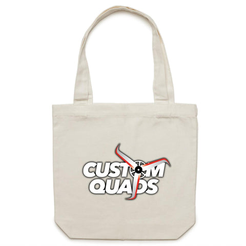 Custom Quads Canvas Tote Bag