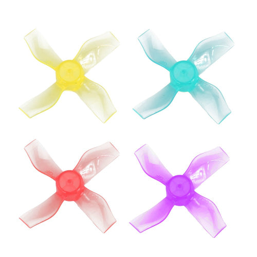 Gemfan 31mm 4-Blade 1220-4 Push-on Propeller 1mm Shaft 8 Pcs for 69mm Whoops