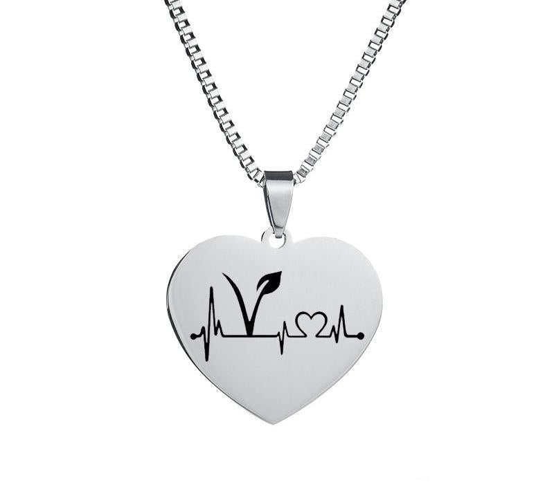 Vegan Heart Beat Necklace