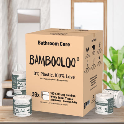 1LT of Nurturing Co. Sanitiser and 36 Rolls of 3PLY Bambooloo Toilet Rolls Bundle Home Care Bundle Bambooloo