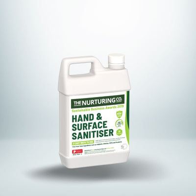 The Nurturing Co Food Grade Hand and Surface Sanitiser. 1L Refill. Sanitiser Bambooloo