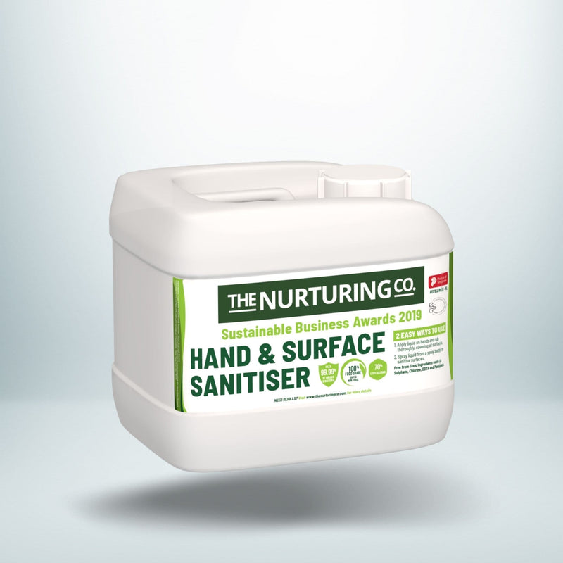 The Nurturing Co Food Grade Hand and Surface Sanitiser. 5LT Refill. Sanitiser Bambooloo