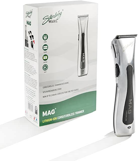 Wahl Professional Sterling Mag Trimmer #8779 Great for Professional Stylists and Barbers Rotary Motor Silver