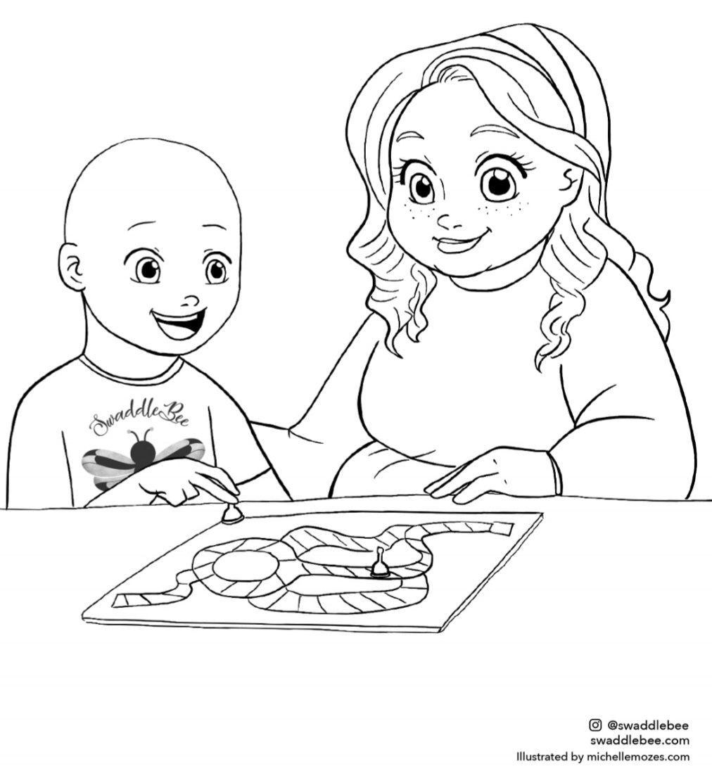 Swaddle Bee Coloring Book Page Free Download Page 7