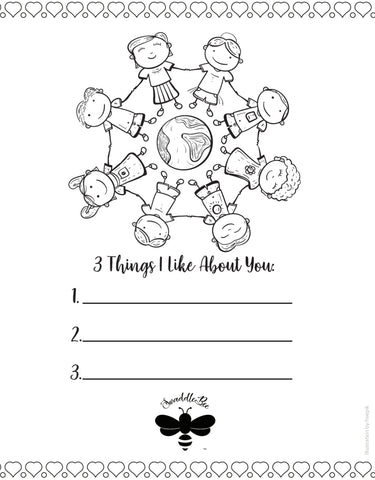 Swaddle Bee Coloring Book Page free printable Friendship