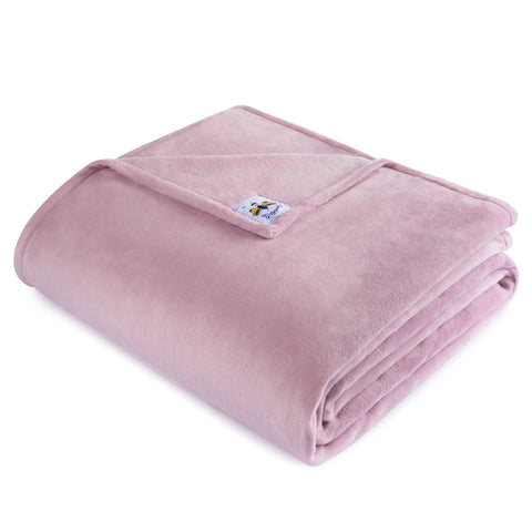 BiggerBee Minky Throw Blanket Dusty Lavender