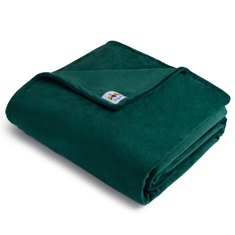 BiggerBee Minky Throw Blanket Forest Green ***RESTOCKING IN SPRING***