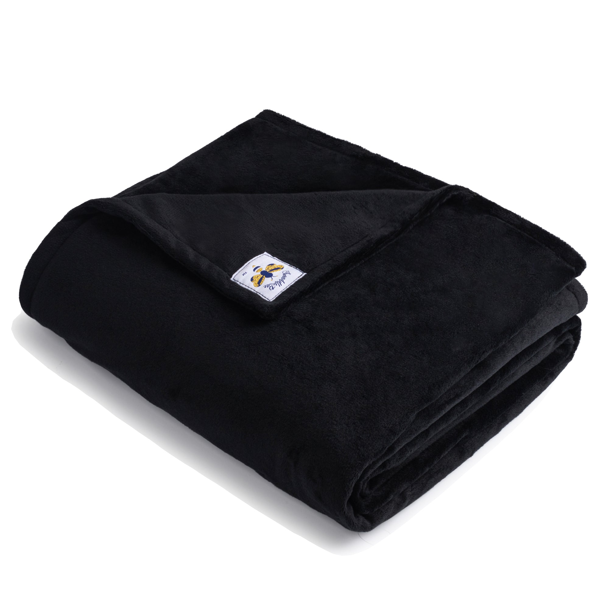 BiggerBee Minky Throw Blanket Black