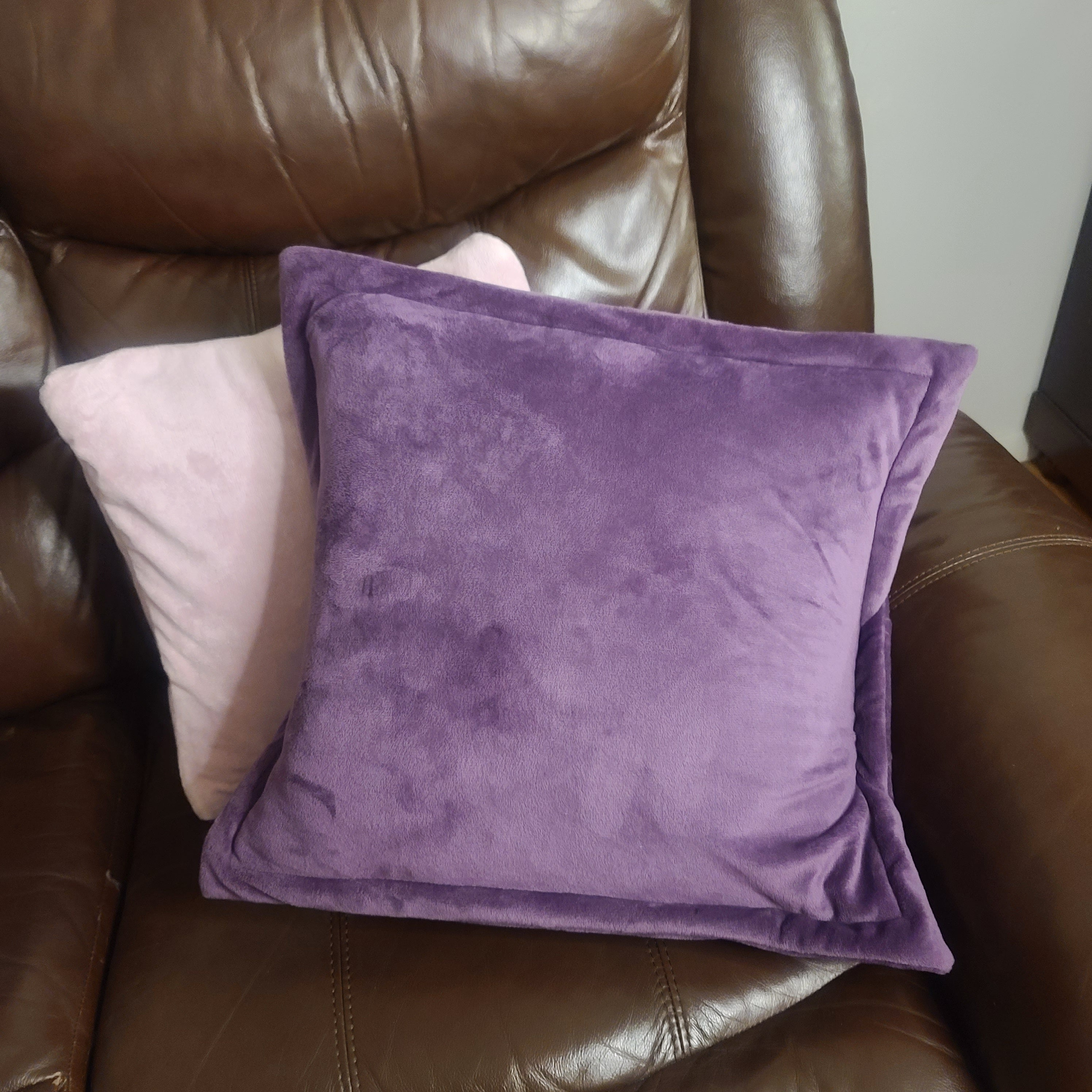 Reversible PillowBee Throw Pillow Square Size PLC Jewel Purple/Lavender inside