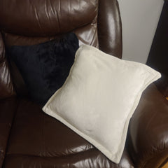 Reversible PillowBee Throw pillow Square Size Ivory/Black inside