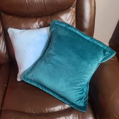 Reversible PillowBee Throw Pillow Square Size Teal/Sky Blue inside