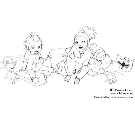 Swaddle Bee Coloring Book Free Printable Page 1