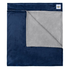 Minky Bee  Stroller Blanket Grey/Navy