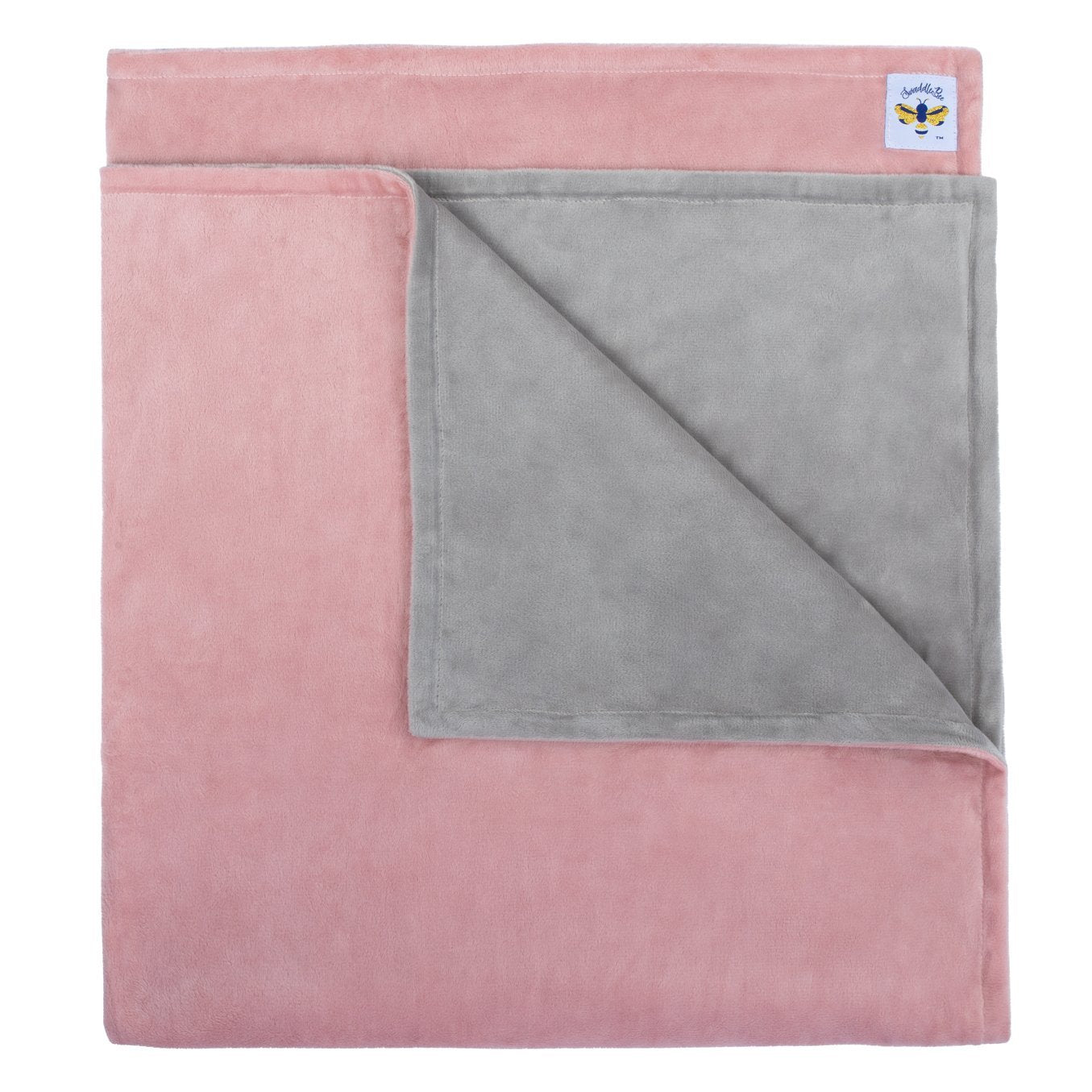 MinkyBee Stroller Blanket Dusty Pink/Grey