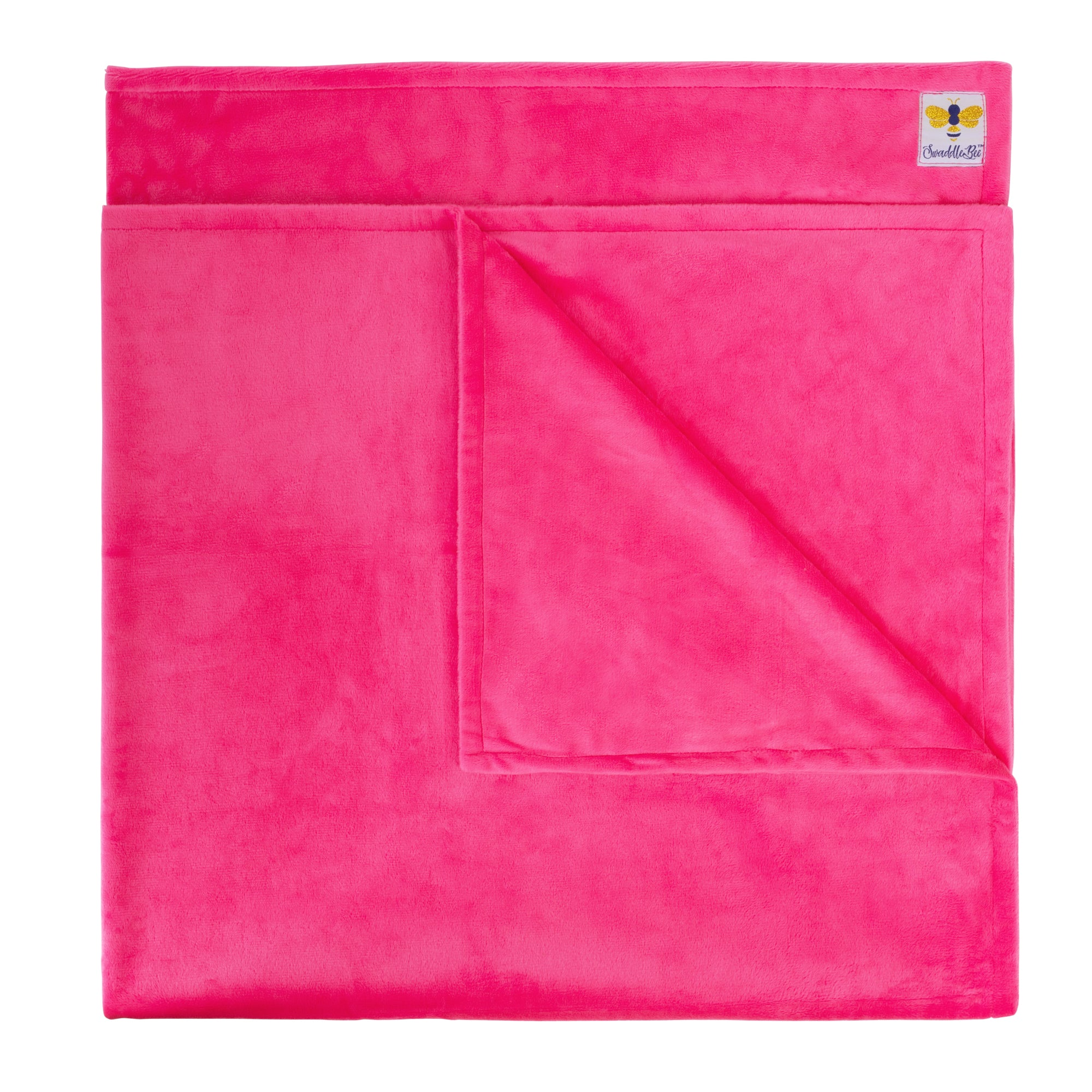 Minky Bee Stroller Blanket Solid Hot Pink **limited edition **