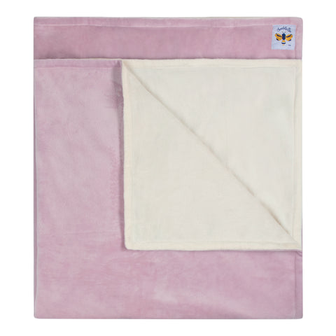 Minky Bee Newborn-Toddler Stroller Blanket Dusty Lavender/Ivory ** IN STOCK LIMITED EDITION **