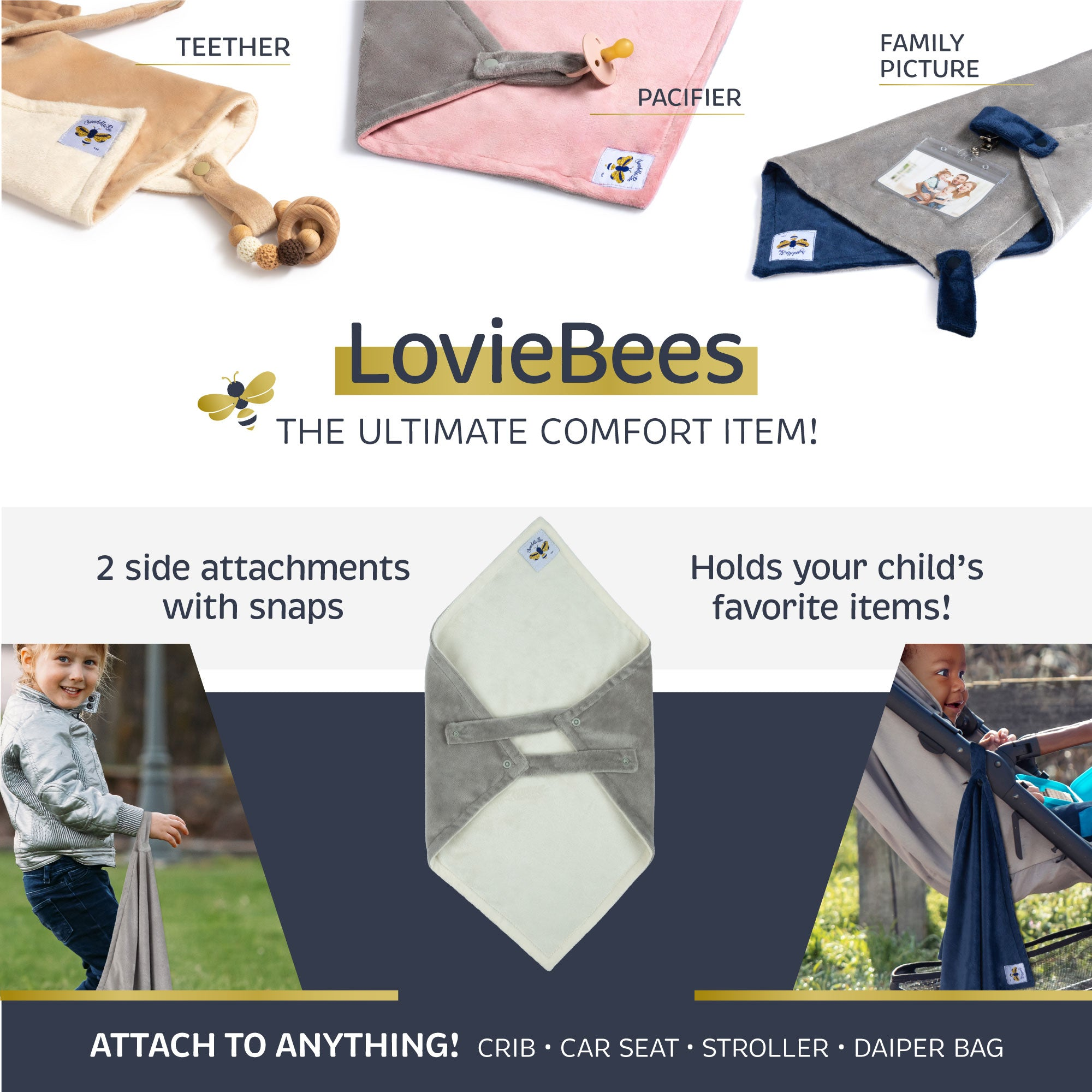 Loviebee 2.0 Dusty Pink/Grey