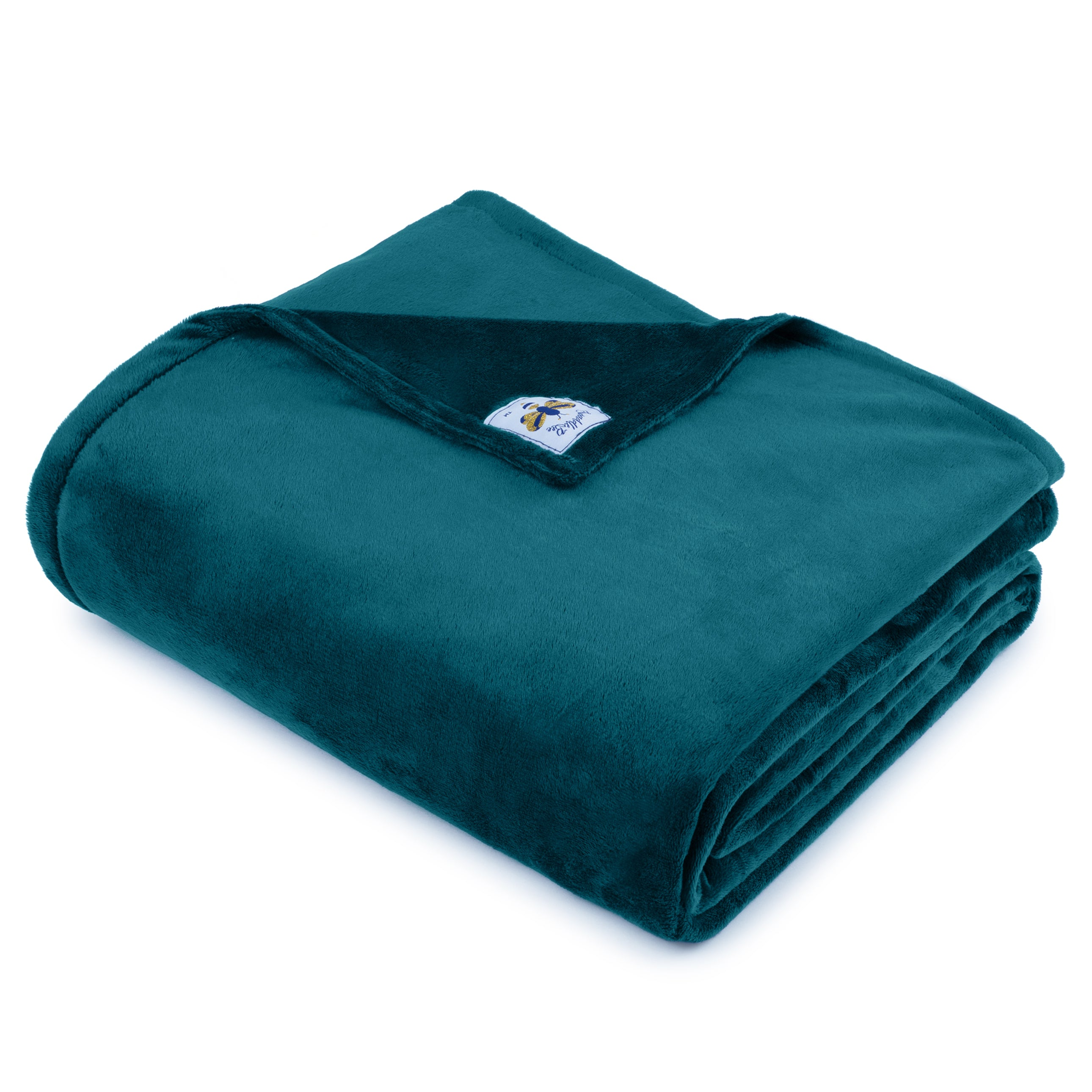 BiggerBee Minky Throw Blanket TEAL **NEW FABRIC**
