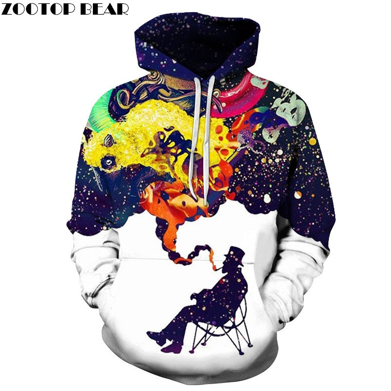 c6c5d1b1d5c9 3D Colorful Smoke Smoking Printed Hoodies Men Women Hooded Sweatshirts  Autumn Winter Outwear Csual Pullover Fashion